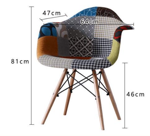 Kích thước lớn của ghế Eames